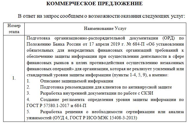 Предложение 684-П